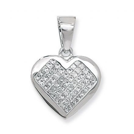 Diamond Heart Illusion Set Wg